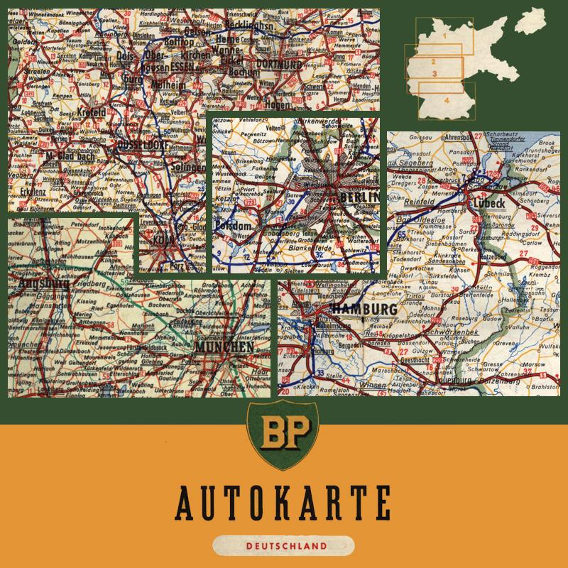 Bp Autokarte Deutschland 1955 Landkartenarchivde