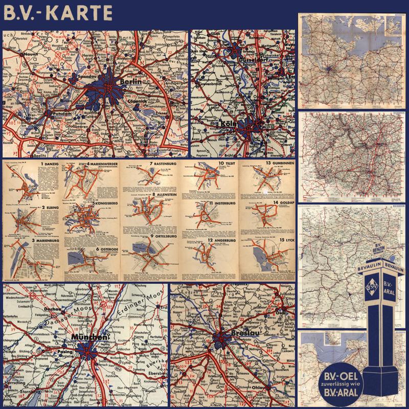 Alte Karte Deutschland 1940.Bv Karten B V Karten Von Deutschland 1935 1939