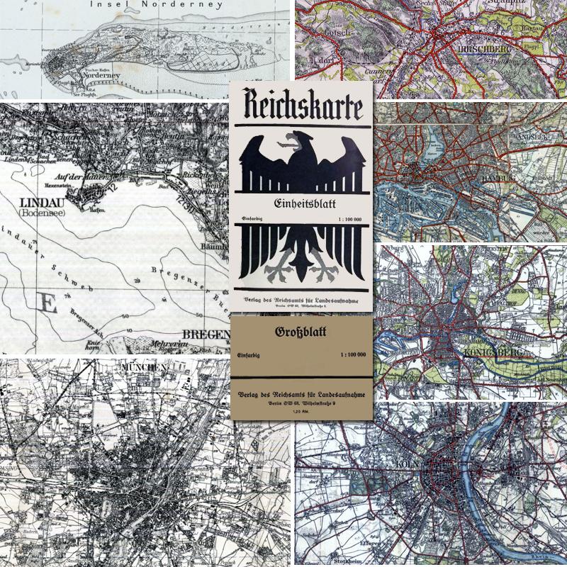 Breslau Karte 1930.Reichskarten Grossblatter Einheitsblatter 1 100 000 1918
