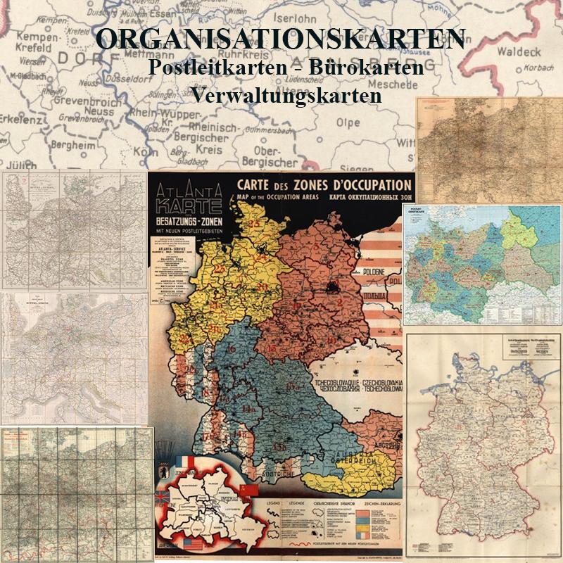 Alte Karte Deutschland 1940.Historische Organisationskarten Bürokarten Vertretergebietskarten