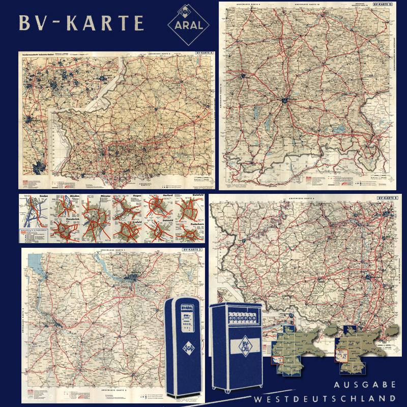 Sammlung Von Bv Karten Aral 1400000 1949 1958