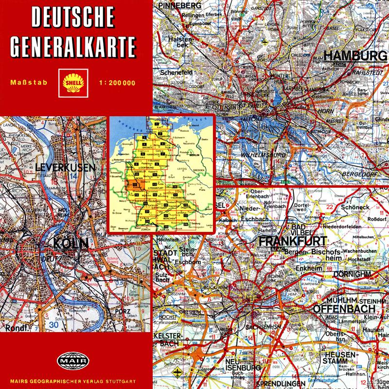 Deutsche Generalkarte 1200000 1954 2010