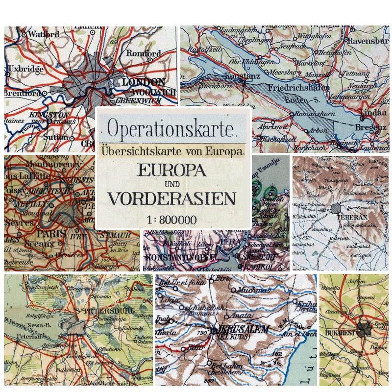 Karte Von Europa 1914.übersichtskarte Von Europa Und Vorderasien 1 800 000