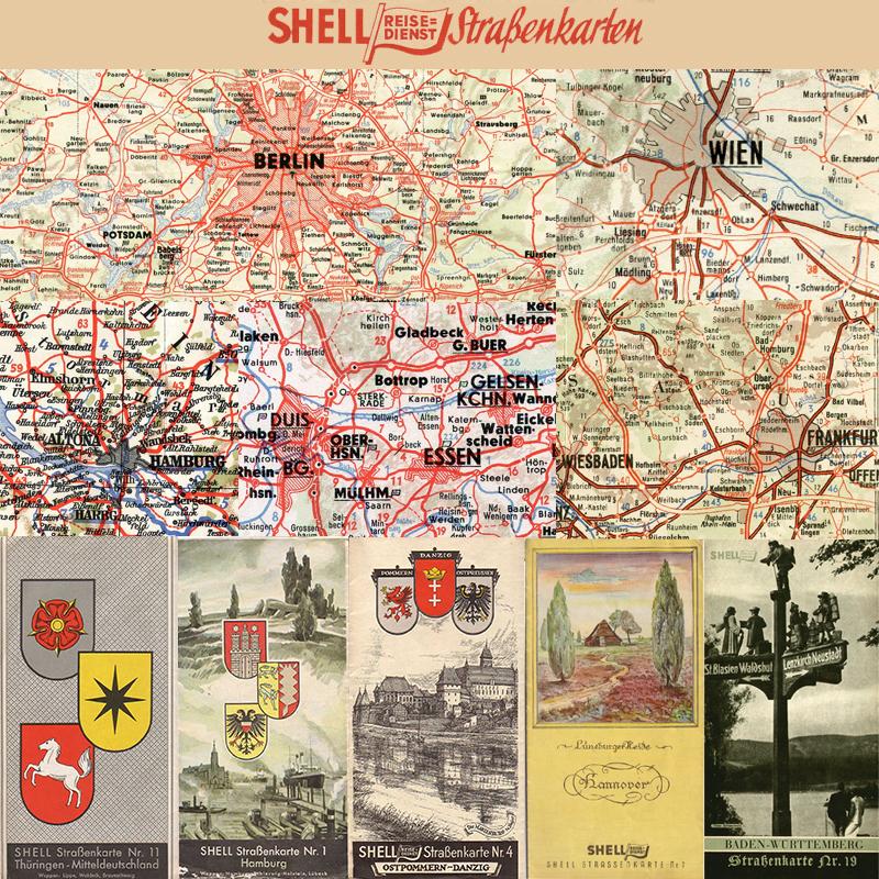 Deutsches Reich Karte 1943.Shell Strassenkarten 1934 1939
