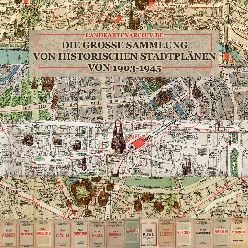 Die Grosse Sammlung Historische Stadtplane Von Deutschland 1903 1953