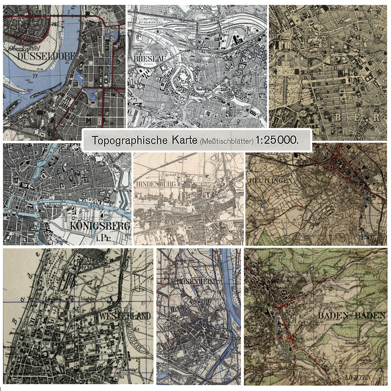 Topographische Karte Thüringen.Meßtischblätter 1 25 000 1868 1945 Landkartenarchiv De
