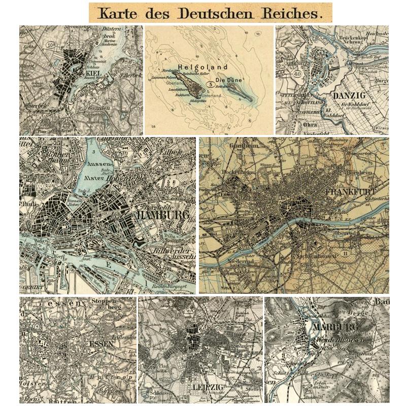 Karte Des Deutschen Reiches 1878 1945 Landkartenarchiv De