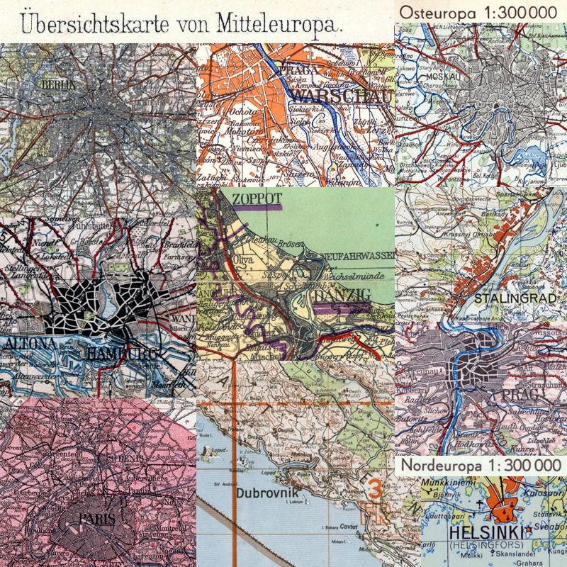 übersichtskarte Von Mittel Ost Und Nordeuropa 1300000 Me 300