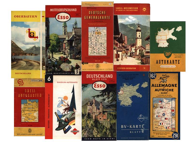 Strassenkarten Von Deutschland 1945 1970
