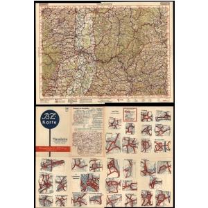 Heilbronn Karte Stadtplan.Bz Karte B Z Autokarte 1924 1939 Landkartenarchiv De