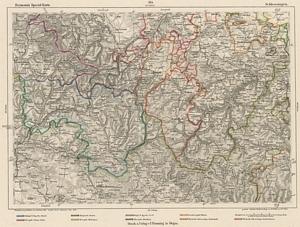 Reymann´s Special-Karte Nr.164 Schleusingen (1869) 1:200.000
