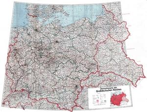 Reichskarte - Übersichtskarte des Großdeutschen Reiches 1:1.000.000 (1943)