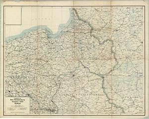 Gea-Verkehrskarte - Übersichtskarte - Ostblatt 1:1.000.000 (Juli 1944)