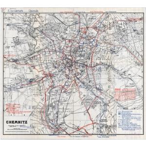Einheitsblatt 100 - Chemnitz - Altenburg - Doebeln (1934)