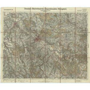 Einheitsblatt 101 - Umgebungskarte Dresden - Dresden - Bischofswerda - Dippoldiswalde - Königstein [Dresden, Bischofswerda, Freiberg, Pirna] (1925)