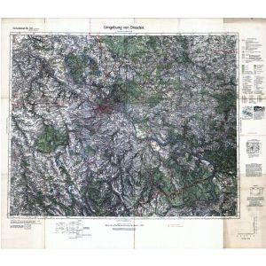 Einheitsblatt 101 - Umgebung von Dresden [Dresden, Bischofswerda, Freiberg, Pirna] (1937)