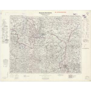 Großblatt 106 - Welun - Rosenberg in Oberschlesien- Tschenstochau [Welungen (Oberschlesien), Dzialoszyn, Rosenberg in Oberschlesien, Tschenstochau] (XI/1944)