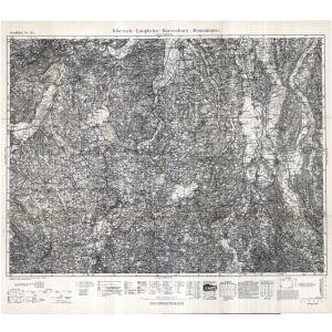 Großblatt 153 - Bieberach - Laupheim - Ravensburg - Memmingen [Biberach, Laupheim, Ravensburg, Memmingen] (1937)