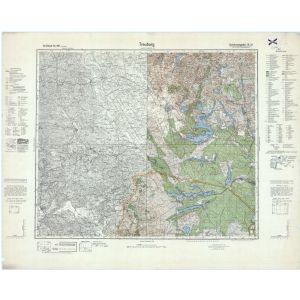 Großblatt 30b - Treuburg [Treuburg, Sudauen, Lyck, Augustow] (3/1941)