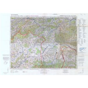 Großblatt 411 - Babia - Gora - Rabka - Chyzne - Zakopane [Makow, Rabka, Chyzne, Zakopane] (IV/1944)