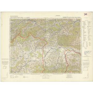 Großblatt 411 - Babia - Gora - Rabka - Chyzne - Zakopane [Makow, Rabka, Chyzne, Zakopane] (III/1942, Vorläufige Ausgabe)