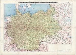 Karte von Großdeutschland, Polen und Grenzländern 1:2.000.000 (1940)