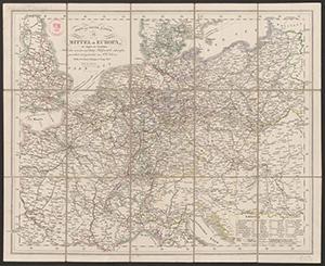 Post- und Reisekarte von Mitteleurropa (1857)