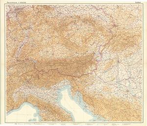 Gea-Verkehrskarte - Übersichtskarte - Südblatt 1:1.000.000 (1939)