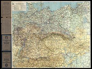 DDAC Strassenzustandskarte von Deutschland 1:1.100.000 (1938)