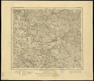 Karte des Deutschen Reichs 1:100.000 (102) Orneta in Polen [1910]