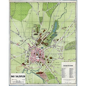 Historischer Stadtplan von Bad Salzuflen (Januar 1918) 1:4.800