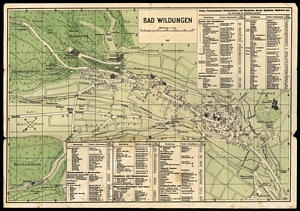 Historischer Stadtplan von Bad Wildungen [1931]