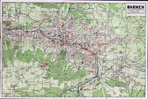 Historischer Stadtplan von Barmen (jetzt Wuppertal - Barmen) (1911) 1:16.600