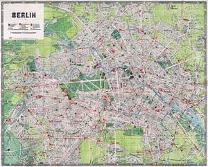 Historischer Stadtplan von Berlin (August 1921)