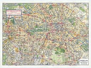 Historischer Stadtplan von Berlin (~ 1929) 1:25.000
