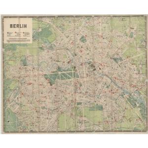 Historischer Stadtplan von Berlin [August 1921]