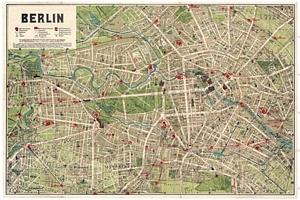 Historischer Stadtplan von Berlin [ca. 1906]