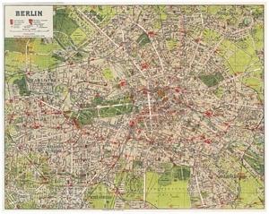 Historischer Stadtplan von Berlin [ca. 1919]