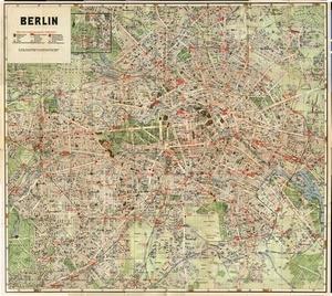 Historischer Stadtplan von Berlin (Mai 1928)