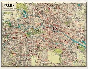 Historischer Stadtplan von Berlin - Kleine Ausgabe [1942]
