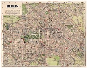 Historischer Stadtplan von Berlin - Mittlere Ausgabe [Januar 1933]