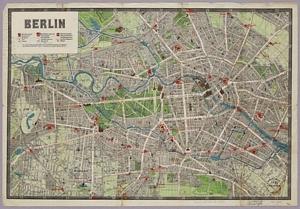 Historischer Stadtplan von Berlin (~ 1905) k.A.