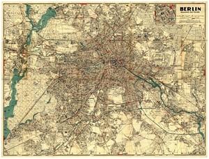 Historischer Stadtplan von Berlin - Volksausgabe [September 1934]
