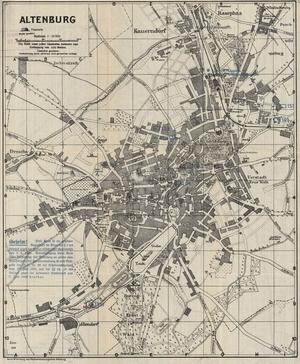 Historischer Stadtplan von Altenburg [1935]