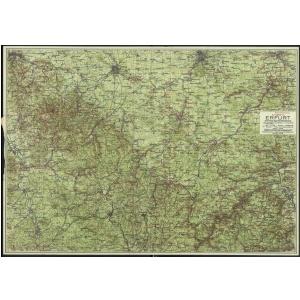 Wanderkarte der Umgebung von Erfurt [1919] - Hohe Qualität (Hochauflösender Druck auf dicken Papier)
