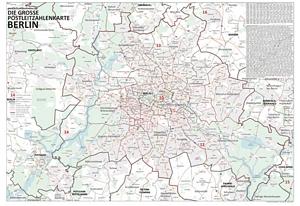 Postleitzahlenkarte Berlin und Potsdam (NEU: 2016, 100x140cm, dickes Papier gerollt] - Mt allen Bezirken und Stadtteilen sowie Hauptverkehrsstraßen mit Straßennamen und Register