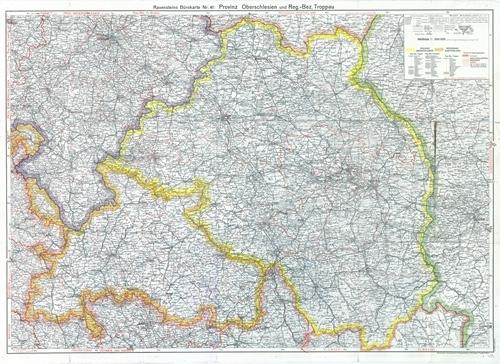 Ravensteins Bürokarte Nr. 41 - Provinz Oberschlesien und Regierungs-Bezirk Troppau 1:300.000 (1941)