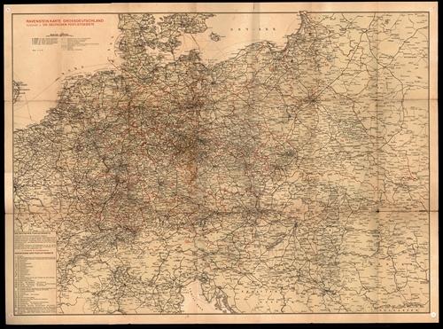Ravenstein Karte Grossdeutschland - Ausgabe 4 - Die Deutschen Postleitgebiete 1:2.000.000 (März 1944)