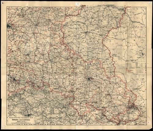 Ravensteins Deutsche Reise- und Organisationskarte Blatt 3 - Schlesien und angrenzende Gebiete 1:600.000 (1934)