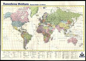 Ravensteins Weltkarte 1:40.000.000 (1941)